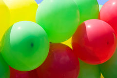 Varicoloured balloon Royalty Free Stock Image