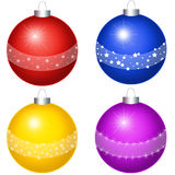 Varicoloured balls on the white background Stock Photos