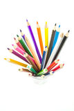 Varicoloured Bleistifte Stockfotografie