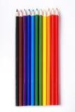 Varicoloured Bleistifte stockbilder