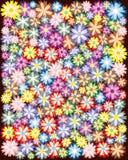 Varicoloured, Blumenverzierung Stockbild