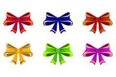Varicoloured bows. Royalty Free Stock Images