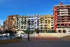 Varicoloured buildings. In Valencia Spain Stock Image