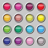 Varicoloured button Royalty Free Stock Images