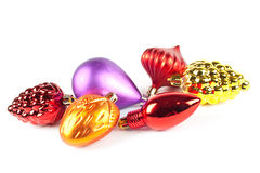 Varicoloured christmas toys Royalty Free Stock Photos