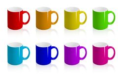 Varicoloured cups. Royalty Free Stock Image