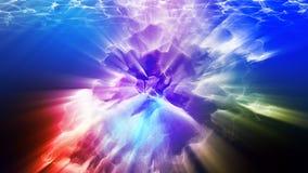 Varicoloured cząsteczki, 3d ilustracja Zdjęcia Stock