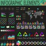 Varicoloured dunkles Welt-infographics Lizenzfreie Stockfotografie