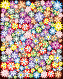 Varicoloured, floral ornament Stock Image