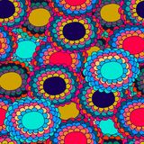 Varicoloured flower seamless pattern Royalty Free Stock Image