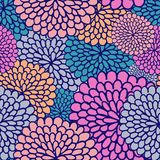 Varicoloured flower seamless pattern Stock Photos
