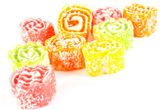 Varicoloured fruit jellies Royalty Free Stock Photos