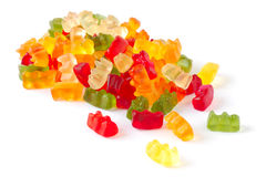 Varicoloured fruit jellies Stock Image