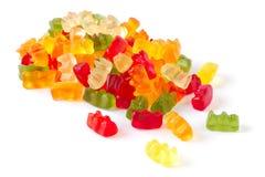 Varicoloured fruit jellies Stock Image
