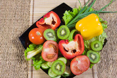 Varicoloured fruit and vegetables Royalty Free Stock Photo