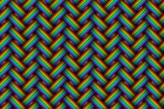 Varicoloured gesponnenes nahtloses Muster der Faser des Vektors vektor abbildung