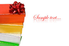 Varicoloured gift boxes Royalty Free Stock Photography