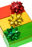 Varicoloured gift boxes Stock Photo