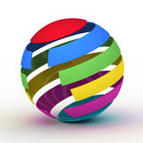 Varicoloured globe Royalty Free Stock Photography