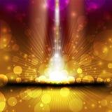 Varicoloured golden christmas background Royalty Free Stock Image