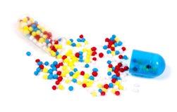 Varicoloured granules. Stock Image