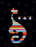Varicoloured Katze Lizenzfreies Stockbild