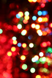 Varicoloured lights are in darkness Stock Photos