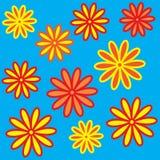 varicoloured ljusa flowerses Arkivbilder