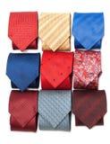 Varicoloured male ties Royalty Free Stock Photos