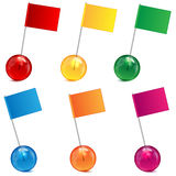 Varicoloured Marbles And Flags Royalty Free Stock Images