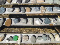 Varicoloured marine pebbles Stock Image