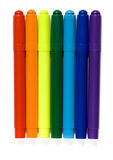 Varicoloured markers Stock Images