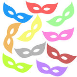 Varicoloured masks Stock Photography