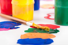 Varicoloured paints Royalty Free Stock Images