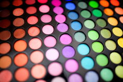 Varicoloured palette of eyeshadow Stock Photo