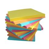 Varicoloured paper for office Stock Photos