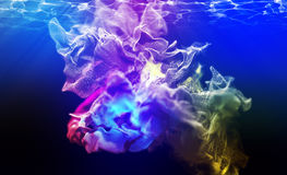 Varicoloured particles, 3d illustration. 3d illustration on the abstract theme of beautiful particles Stock Photos