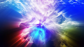 Varicoloured particles, 3d illustration. 3d illustration on the abstract theme of beautiful particles Royalty Free Stock Photography