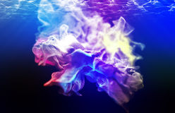 Varicoloured particles, 3d illustration. 3d illustration on the abstract theme of beautiful particles Royalty Free Stock Images
