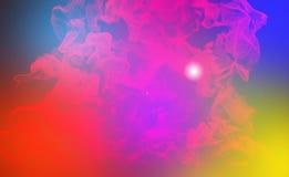 Varicoloured partiklar, illustration 3d Arkivfoto