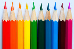 Varicoloured pencils. Stock Images