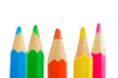 Varicoloured pencils. On a white background Royalty Free Stock Photography
