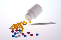 Varicoloured pills Royalty Free Stock Photography