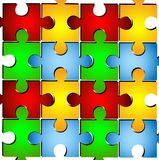 Varicoloured puzzle on a white background Royalty Free Stock Photos