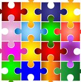 Varicoloured puzzle on a white background Stock Image