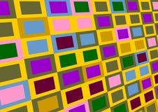 Varicoloured Quadrate. stock abbildung