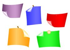Varicoloured sheets of paper. Royalty Free Stock Photos