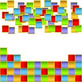 Varicoloured squares. Stock Photo