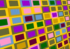 Varicoloured squares. Royalty Free Stock Photography