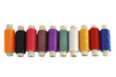 Varicoloured threads Royalty Free Stock Images